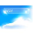 Blue sky art vector image