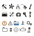 Car mechanic and service icons vector image