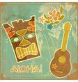 aloha card vector image