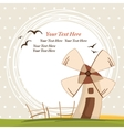 Background with windmill vector image