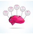 Brain infographic low-poly design Human brain vector image