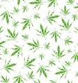 cannabis vector pattern vector image