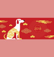 chinese new year 2018 greetings calendar year vector image