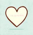 Hand Drawn Love Heart vector image