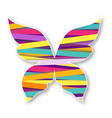 multicolor butterfly paper butterfly logo vector image