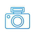 photographic camera flash button lens vector image