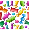Seamless pattern with candy vector image