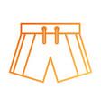 swim short sport clothes for men vector image