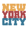 T shirt typography New York blue red orange stars vector image