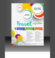 Travel Flyer Template vector image