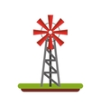 wind mill field isolated icon vector image
