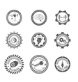 set of different gray icons vector image vector image