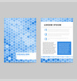 invitation card with blue pattern vector image vector image