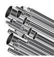 metal tube vector image vector image