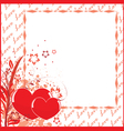 postcard to valentines day vector image
