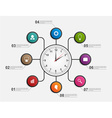Abstract infographic with clock Design template vector image