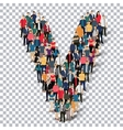 group people shape letter V Transparency vector image