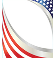 abstract american flag frame vector image