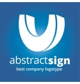 Abstract logotype concept isolated on white vector image