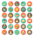 Flat Shopping icons with long shadows vector image