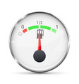 fuel gauge with metal frame half tank vector image