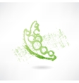 green peas grunge icon vector image