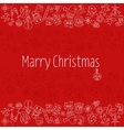 Merry Christmas Pattern with Holiday Elements vector image