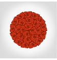 round from red roses vector image
