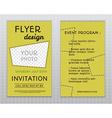 Summer yellow stylish flyer and brochure vector image