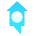 Map marker home shape vector image
