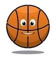 Bouncing happy brown basketball ball vector image