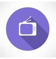 tube TV icon vector image vector image