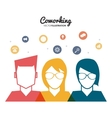 Coworking icon design vector image