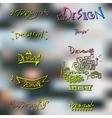 Handmade hand lettering design vector image