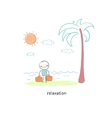 A man came to the beach vector image
