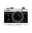 abstract retro photo camera isolated on white vector image