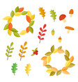 autumn set collection with autumn signs vector image