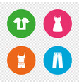 clothes signs t-shirt with tie and pants vector image