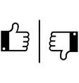 like and dislike vector image