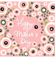 Mothers Day floral pattern vector image