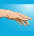 reaching hand vector image