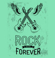 rock music forever icon vector image