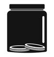 save money icon simple black style vector image