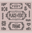 set of vintage ornate frames vector image