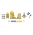 Sightseeing Summer Symbols Set By Five In Line vector image