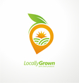 Vegetable logo design concept layout vector image