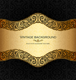 Vintage background black and gold vector image