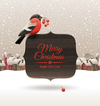 Christmas bullfinch vector image