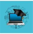 online education usa graduation icon design vector image