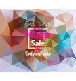 Colorful triangular background with Huge Sale vector image